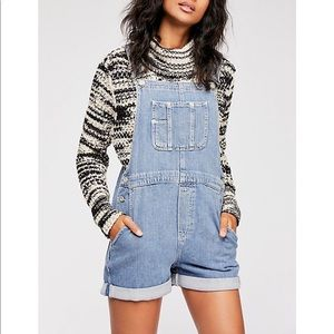 Free people denim overalls xs